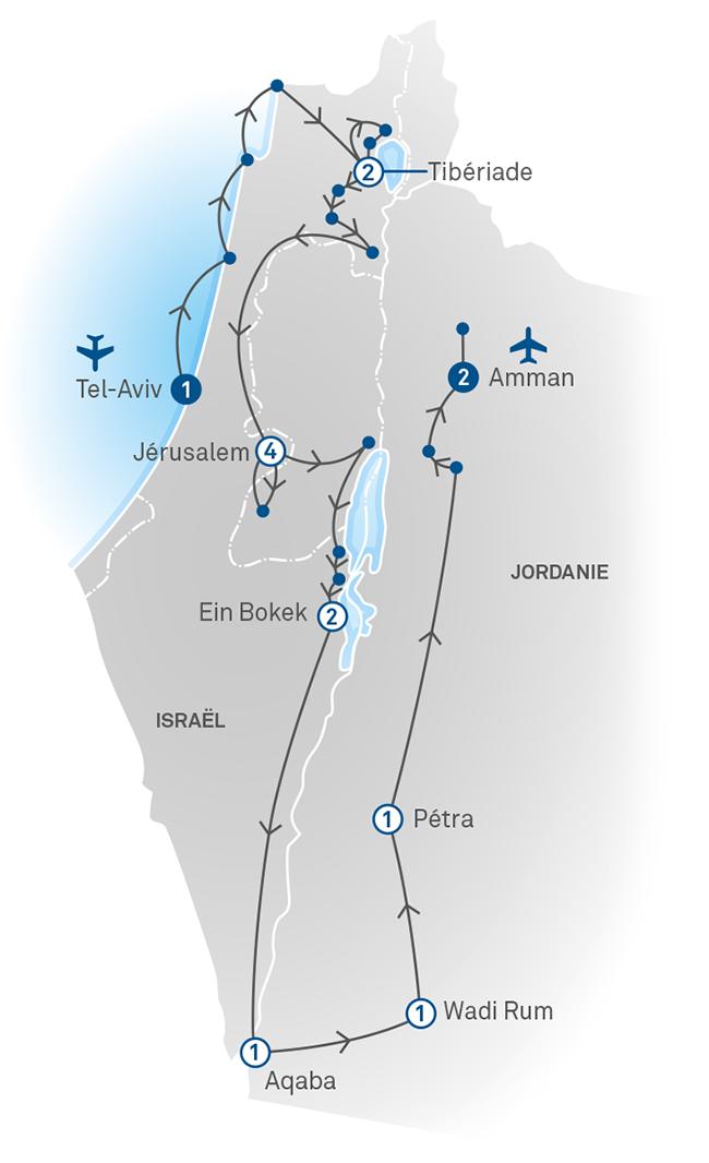 Carte Jordanie Israel.Israel Et Jordanie Sur Les Traces De L Histoire