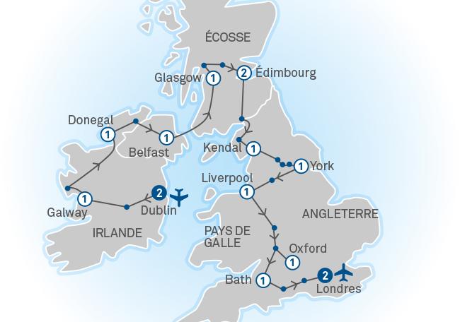 Carte Angleterre Ecosse.Irlande Ecosse Angleterre En Groupe Organise Caa Quebec