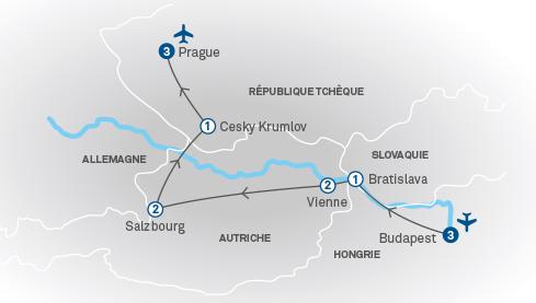 Carte Europe Vienne Prague Budapest.Joyaux De L Europe Centrale