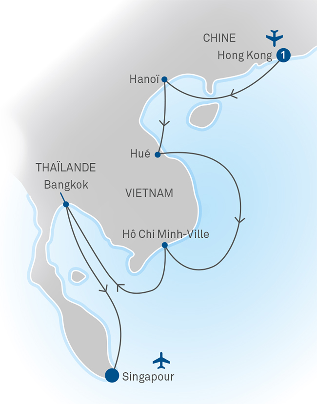 Carte Thailande Hong Kong.A Different Asia
